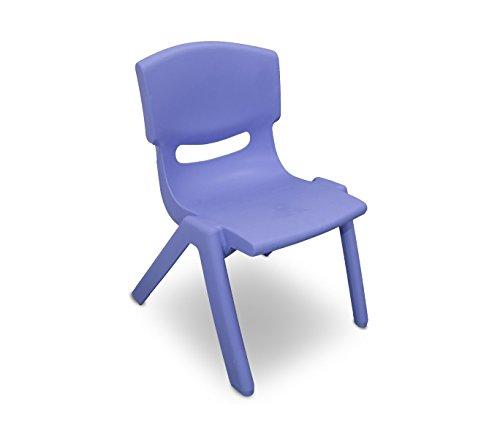 173710 sedia colorata per bambini in plastica resistente 26 x 30 x 55 cm. media wave store (blu)