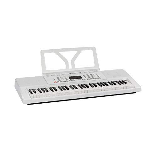 Schubert Etude 61 MK II Digital Keyboard • Tasten-Keyboard • 61 Tasten • Lern- und Aufnahmefunktion • 50 Demo-Songs • 300 Klänge/Rhythmen • Netz- und Batteriebetrieb • inkl. Notenständer • weiß