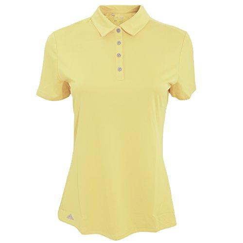 adidas Teamwear Damen Polo-Shirt, kurzärmlig (Small) (Gelb) - Adidas Striped Polo