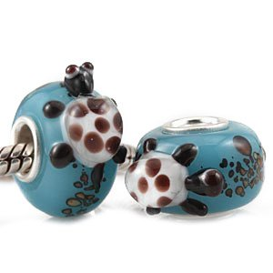 Andante-Stones 925 Sterling Silber Murano Glas Bead TIERWELT