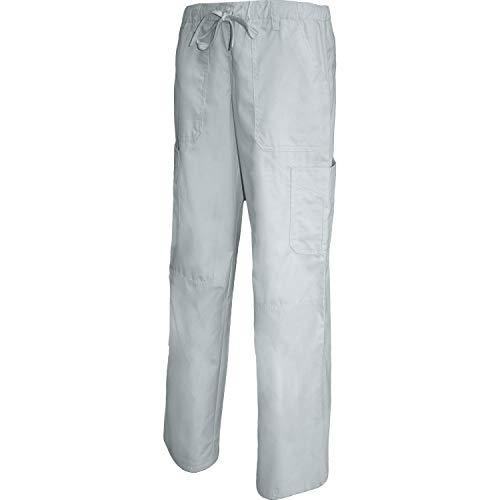 Misemiya - pantaloni vita bassa con cordone uniforme lavoro clinica ospedale pulizia veterinario igiene ospitalitÁ - ref.q8114 - small, bianco