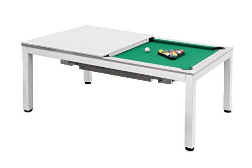 Dynamic Billardtisch, Pool, Vancouver, 7 ft. (Fuß), matt-weiß, Standardtuch