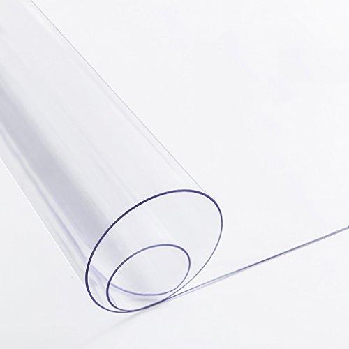 Wasserdicht, Öl-Beweis und heiß-Beweis Glas PVC Tischdecke, transparente Gummimatte, Tischset, Couchtisch Pad (größe : 80 * 120cm)