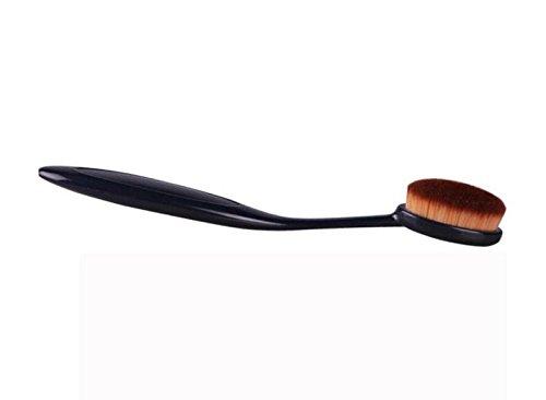 linyena Maquillage Brosse ovale brosse Crème Liquide Crème Pinceau Brosse à dents Outil (Noir)