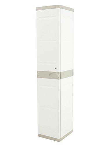 Plastiken Garderobenschrank Titanium Breite 35cm hoch x 44cm Tief x 35cm Farbe beige (176cm)