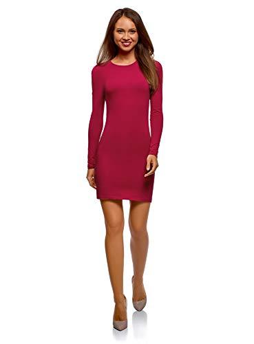 oodji Ultra Damen Enges Jersey-Kleid, Rot, DE 42 / EU 44 / ()