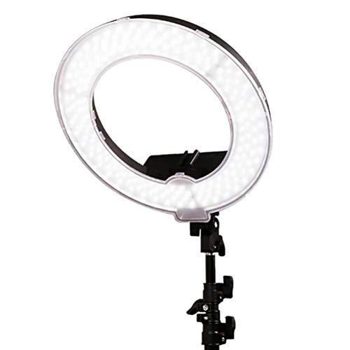 XHH GWJ-45W 14 Zoll / 34.5cm Bicolor Dimmable LED Ring Licht mit 2m Stand, 360 Grad Swivel Phone Holder für Studio Foto Video Portrait Selfie - Video-portrait
