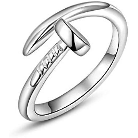 roxi de la mujer anillos de aleación sencilla forma clavos de Platinum/bañado en oro rosa anillos de