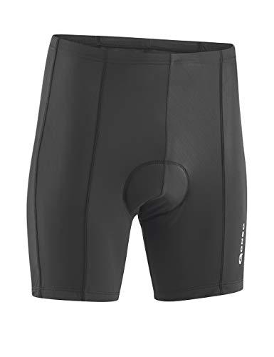 GONSO Radhose Algir aus 80% PA 20% EL für Herren, gepolsterte Fahrradhose/ Bermuda/ Shorts mit Kordelzug, nahtfrei, Schwarz (900), Gr. L