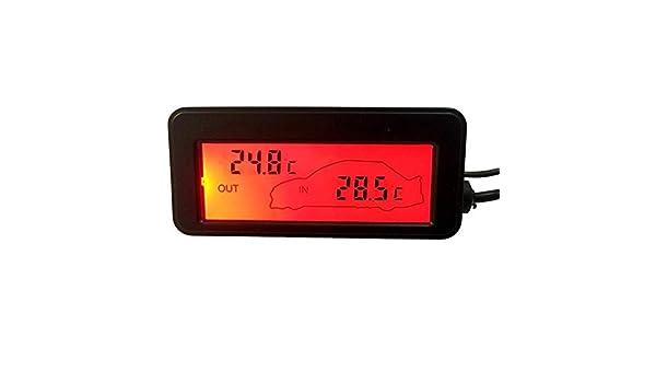 Somedays Auto-Digital-Thermometer Mini-LCD-Hintergrundbeleuchtungs-Innenau/ßenthermometer F/ür Auto