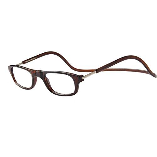 Jee gafas de lectura hombre mujer reading glasses con iman OL02(marr¨®n,+1.00)