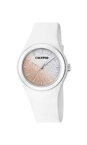Calypso Damen Analog Quarz Uhr mit Silikon