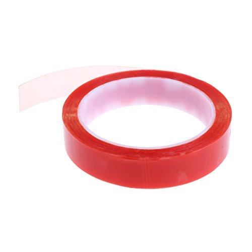 D DOLITY 1 Stück Klebeband Aufkleber klebrige Doppelseitig Klebeband hitzebeständige Klebeband Rolle - rot 20mm (Klebeband Hitzebeständige Doppelseitige,)