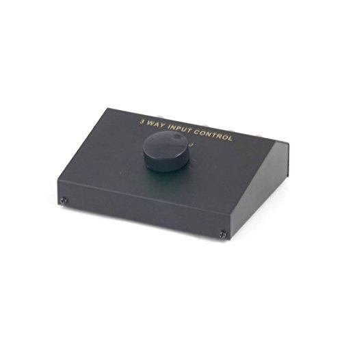 profitec TC 6 Audio Umschaltpult Aux/Cinch Umschalter mit 3 Eingängen