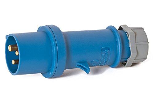 CEE Stecker 16 A 3-polig Mennekes, werkzeugloses öffnen, Schraubanschlüsse Wohnmobil Camping Boot Landanschluss (Boot-kabel)