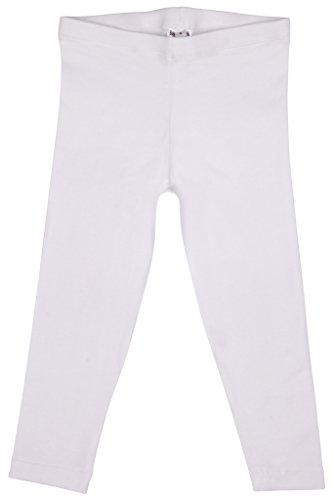 Leggins per ragazzine, comodi, in cotone e licra. white 2-3 anni