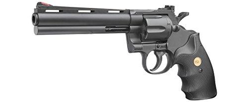 UHC .357 6 Zoll Softair Revolver mit Hülsen Kaliber 6mm BB schwarz (Revolver Softair Uhc)