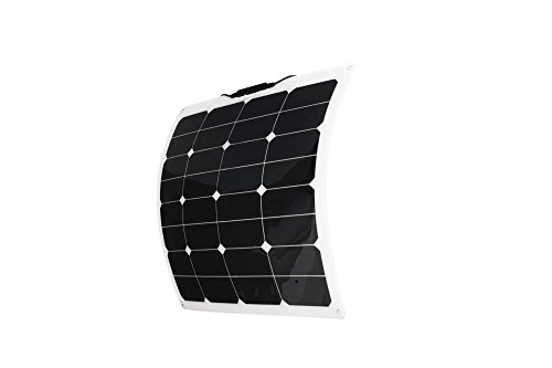 Solar panel flexible 50 W Backcontact 12 V Semi flex flexibel Monokristallin (50w Solar Panel 12v)