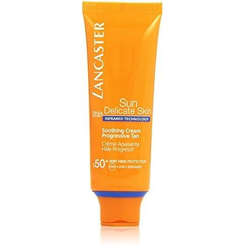 Lancaster - Crema calmante bronceado progresivo, factor de protección solar 50+ Protección muy alta - 50 ml