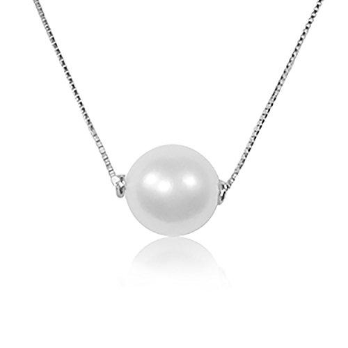 Collana con Ciondolo Oro e Diamanti Oro Bianco 9Kt 375-Perla 6.0mm-Catena Maglia 42cm Clicca su MILLE AMORI blu e scopri tutte le nostre collezioni