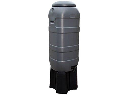 Récupérateur d'eau Slimline/Rainsaver 100 litres | Anthracite ou Vert | Complet avec Couvercle, Robinet et Socle! (Anthracite)