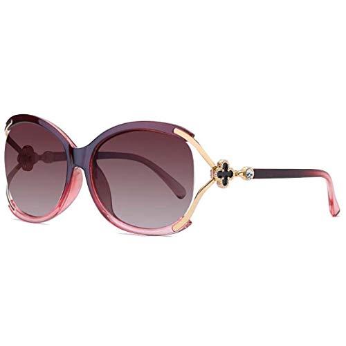 Fox Head Polarized Sonnenbrillen Big Box Damen Sonnenbrillen UV400 Schutz Fahren Mehrfarbenrahmen (Color : Red Frame) ()