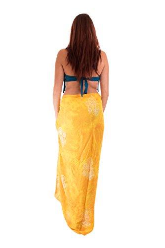 45 Modelle Sarong Pareo Wickelrock Strandtuch Tuch Wickeltuch Handtuch Gratis Schnalle Schließe Alle Farben Made by El Vertriebs GmbH Knall Gelb Orange Blume