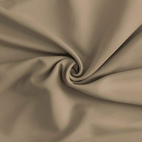 Morbidissimi tessuto oscurante al metro per tende night h. 300 cm r347 beige
