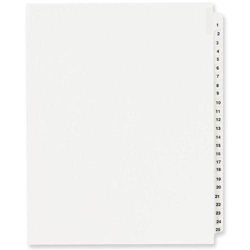 Rechtliche Exhibit Teiler, 21,6x 27,9cm 1–25Seite Index Tab, Weiß ave01330 (Avery Teiler Weiß)