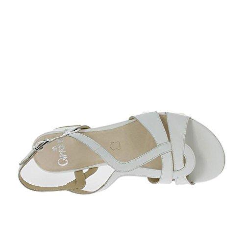 Caprice Damen 28212 Offene Sandalen mit Keilabsatz White Nappa