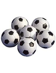 Sungpunet 6pcs Table Soccer Foosballs Remplacement Mini Plastique Noir et blanc Ballon de foot
