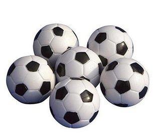 sungpunet Juego de mesa fútbol Foosballs reemplazos Mini de plástico negro  y blanco balón de fútbol 0dcbfa188e8c0