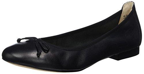 Caprice Damen 22102 Geschlossene Ballerinas, Schwarz (Black Nappa), 39 EU
