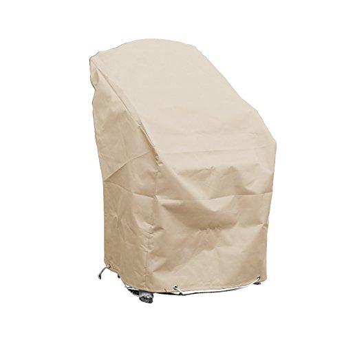Housse de protection pour chaises de jardin empilables Haute qualité polyester L 70 x l 65 x h 70 Couleur beige