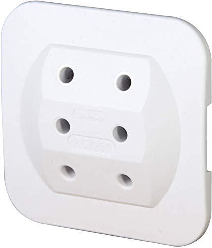 Kopp 174902005 Adapter 3-fach für Eurostecker, extra-flach, arktis-weiß