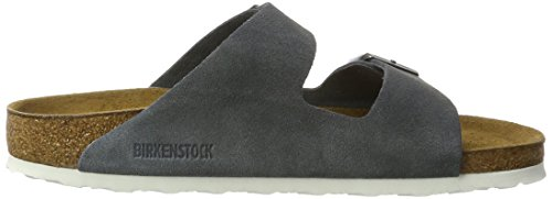 BIRKENSTOCK Unisex-Erwachsene Arizona Leder Softfootbed Pantoletten Grau (Stone)