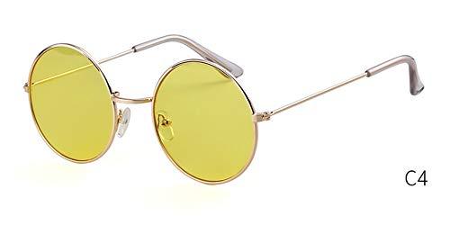 Sonnenbrille Retro Frauen Bunte Runde Sonnenbrille Designer Pink Fashion Kreis Rosa Linse Klein Sonnenbrille Tönung Schattierungen