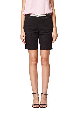 ESPRIT Collection Damen Shorts 058EO1C002, Schwarz (Black 001), 34