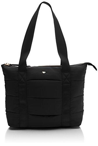 TOM TAILOR für Frauen Taschen & Geldbörsen Querformat-Shopper Nadine schwarz/black, OneSize