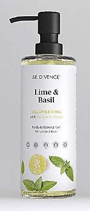 ST. D'VENCE Lime & Basil Body Wash With Mandarine (500 Ml), 500 ml