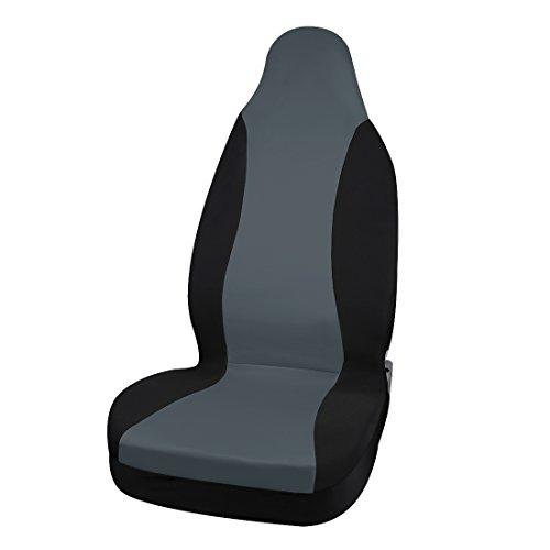 Sourcingmap® nuovo grigio nero coprisedile anteriore adatta alla maggioranza delle auto suv camion