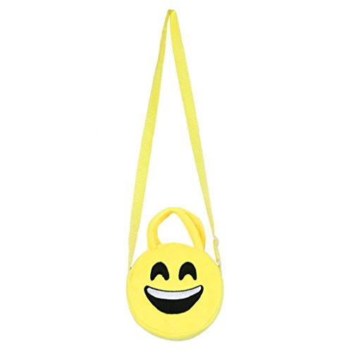 Imagen de bolso  para mujer sannysis mujeres emoticon bolso de hombro impresión emoji negro  alternativa