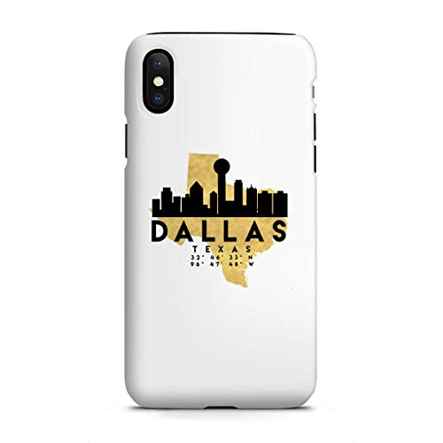 artboxONE Apple iPhone X Tough-Case Handyhülle Dallas Texas Skyline MAP Art von Emiliano Deificus -