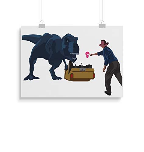 Jurassic Park inspirierte Poster - Zitat - Alternative Movie/Film Prints in verschiedenen Größen (Rahmen nicht im Lieferumfang enthalten)