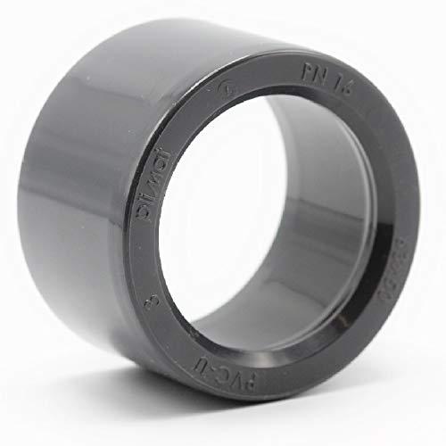 Plimat PVC Klebefitting 50 mm T-Stück Bogen Rohr Winkel Muffe Kappe Verschraubung (PVC Reduktion kurz - 63x50mm) (Muffe Reduktion)