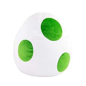 TOMY T12968, Super Mario-Peluche Huevo de Peluche Verde, Blanco