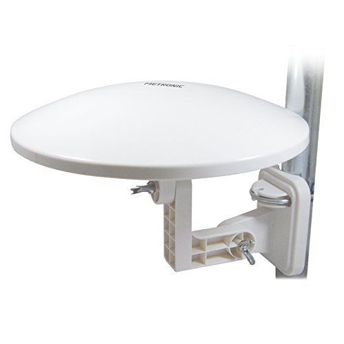 Metronic 427017 - Omnidirectional outdoor antenna with F socket, 36 dB gain, white