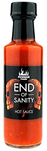 FIRELAND FOODS End Of Sanity (Carolina Reaper) Hot-Sauce, mit der schärfsten Chili der Welt, 200.000 Scoville, 100ml