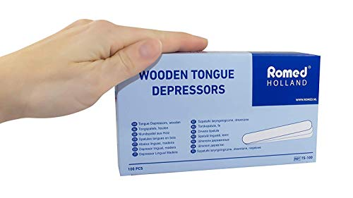 Holzspatel Mundspatel Spatel Bastelspatel von Romed Medical (Menge:1000 Stück)