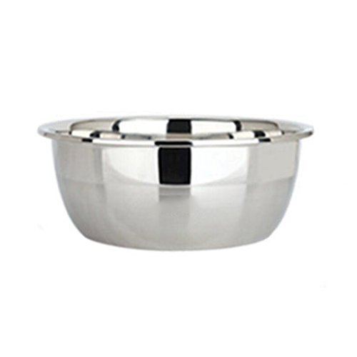 MXJ61 Pot d'acier Inoxydable Round Wash Vegetables Pots Kitchen Thicker Soup Basin Fighting The Egg Pot (Taille : 32cm)